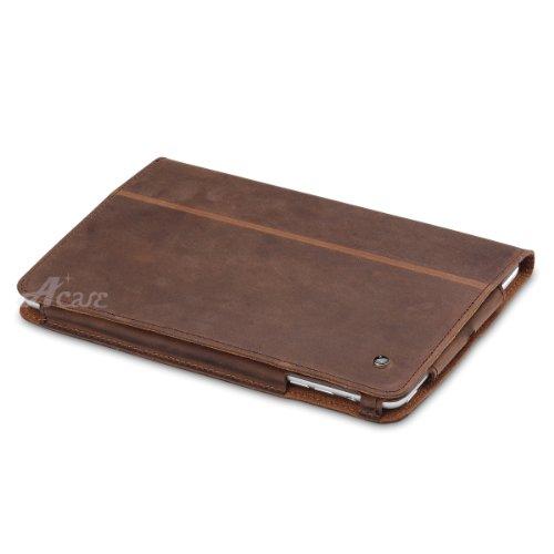 Acase Real Leather case 本革 レザー ケース for Apple iPad mini ブラウン ( スタンド機能付 )