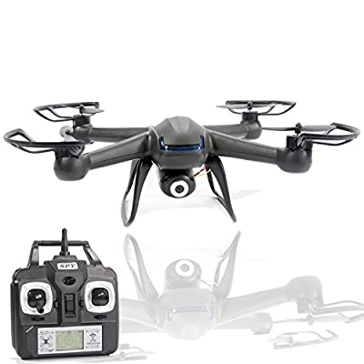 Spy Drone with Camera - X007 Quadcopter (3rd Gen) HD Camera 720p Video 2MP, 6 Axis Gyroscope, 7.4V Battery, 3D Flip Roll, 4 Ch 2.4 ghz Long Range with KiiToys USA Warranty by KiiToys