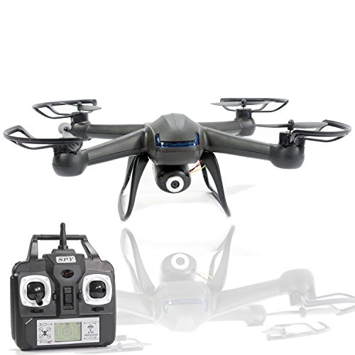 Spy Drone with Camera - X007 Quadcopter (3rd Gen) HD Camera 720p Video 2MP, 6 Axis Gyroscope, 7.4V Battery, 3D Flip Roll, 4 Ch 2.4 ghz Long Range with KiiToys USA Warranty (Wifi Remote Starter compare prices)