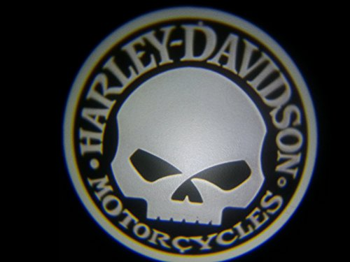 Harley Skull Ghost Door Logo Projector Shadow Puddle Laser Led Lights 7W (Qty 2)
