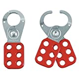 RED SAFETY HASP 2.71CM DIA. JAWS Security Locks - RED SAFETY HASP 2.71CM DIA. JAWS