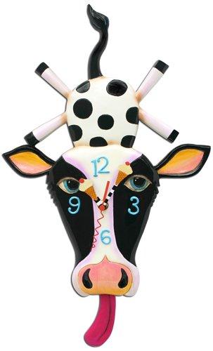 Cow Cream Pendulum Clock
