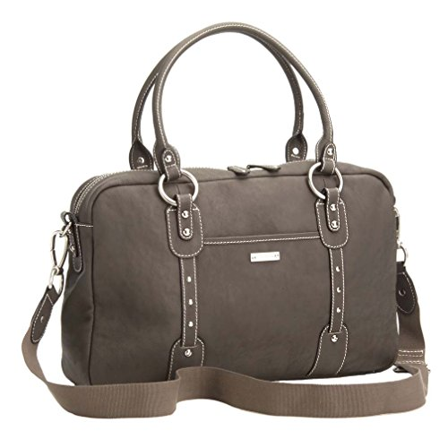 Storksak Elizabeth Diaper Bag, Walnut Genuine Leather (Discontinued by Manufacturer)