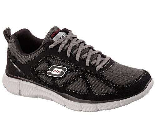 Skechers Mens Equalizer Front & Center Sneaker Black/Charcoal Size 10.5