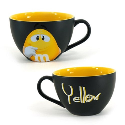 M&M's Cappuccino Hot Chocolate Ceramic Mug Bowl (Peanut Yellow)