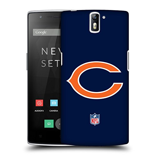 Official NFL Plain Chicago Bears Logo Hard Back Case for OnePlus One (Chicago Bears Tablet Case compare prices)