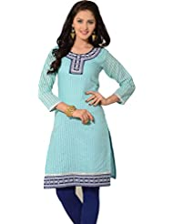 Arista Designer Ready To Wear Blue Stitched Kurti