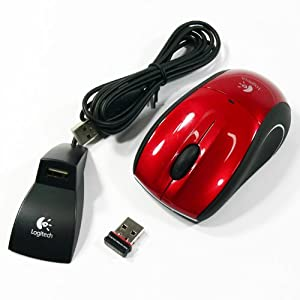 Logitech V450 Nano Cordless Laser Mouse for Notebooks (Red)