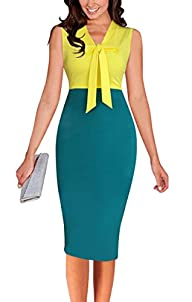 LECHEERS Women Sleeveless Bodycon Ele…
