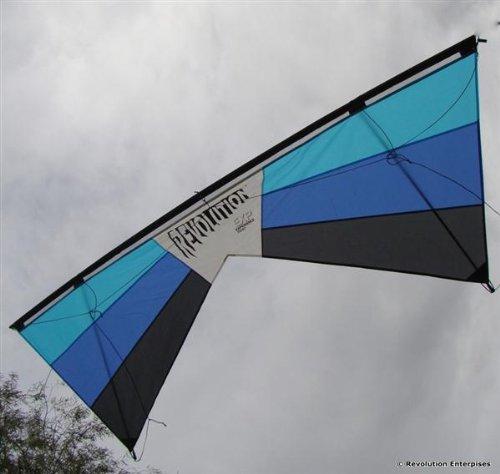 Revolution EXP, Lenkdrachen 4-Leiner hellblau, dunkelblau, schwarz