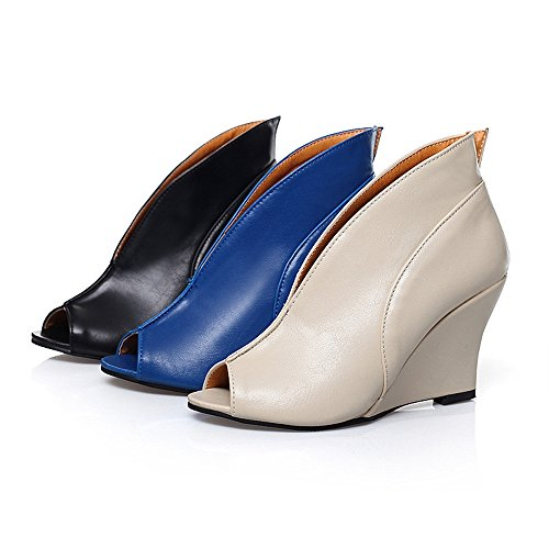 Milesline Spring Summer Womens Peep Toe Wedge Ankle Boots Fashion Sandals