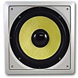 Acoustic Audio HDS10 10-Inch In Wall Kevlar Subwoofer (White)