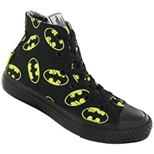 Converse Boys' Chuck Taylor Batman High Top Sneaker Black 2 M US