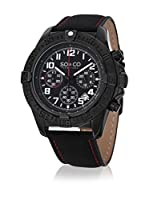 SO & CO New York Reloj de cuarzo Yacht Club Negro 44 mm