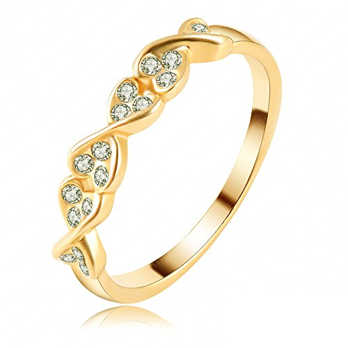 K-Design Wholesale Big Promotion Simple Design Unisex Couple Finger Rings Jewelry 18K Gold/Rose Gold Plate Rings Ri-Hq1165 6.0