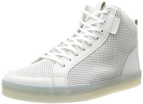 Clae: Russell 07 White Perf Leather Sneaker (9.5)