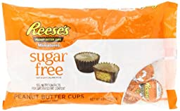REESE\'S Peanut Butter Cup Miniatures (Sugar Free, 8.8-Ounce Bags, Pack of 3)