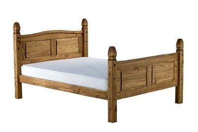 Birlea Corona High End Bed, Waxed Pine