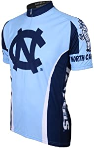 NCAA North Carolina Tar Heels Cycling Jersey, Light Blue Dark blue by Adrenaline Promotions