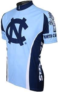 NCAA North Carolina Tar Heels Cycling Jersey, Light Blue Dark blue by Adrenaline Promotions