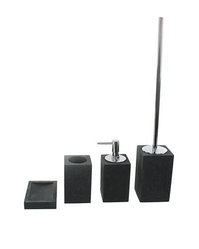 Gedy by Nameeks Oleandro Bathroom Accessory Set of 4, Black