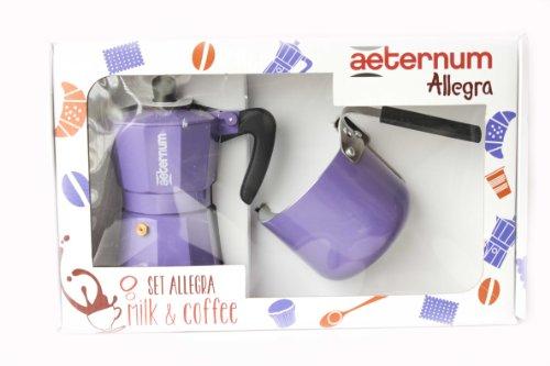 set-allegra-milk-coffea-bialetti-aeternum-viola-moka-bricco-latte-cucina-casalinghi-caffe-e-latte