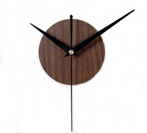 シンプル 木目調 壁掛け 時計 (ブラウン)