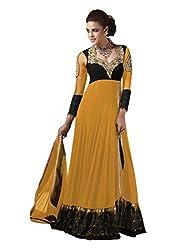 VIHA Yellow Women's Velvet Salwar Suit