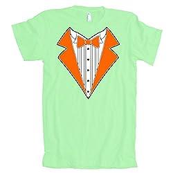 ORANGE TUXEDO Wedding Bachelor Prom TUX Tee American Apparel T-Shirt