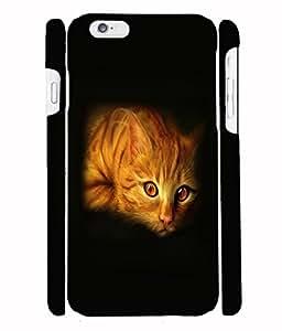 Fuson 3D Printed Cat Designer Back Case Cover for Apple iPhone 6S - D1097