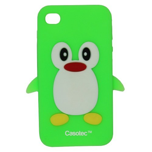 Penguin Silicone Jelly Back Case Cover for Apple iPhone 4 / 4S - Light Green  available at amazon for Rs.125