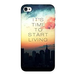 Special Its Start Living Back Case Cover for iPhone 4 4s
