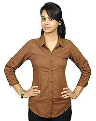 NAUGHTY BEAR Women's Brown Shirt