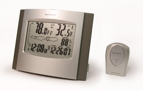 Chaney Instruments Acu-Rite 75321A1 Clock and Thermometer with Remote Sensor