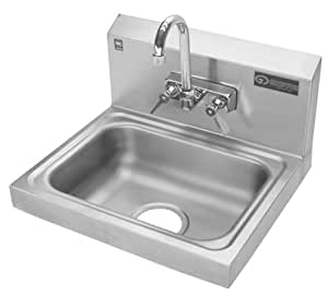 ... Wall-Mounted Sink with Faucet, Stainless Steel - Utility Sink - Amazon