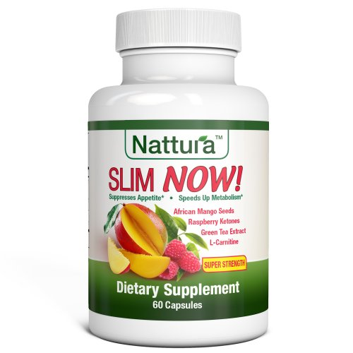 Slim Now! - Weight Loss Supplement With African Mango Seed Extract, Raspberry Ketones, Green Tea Extract (Super Strength) 60 Capsules