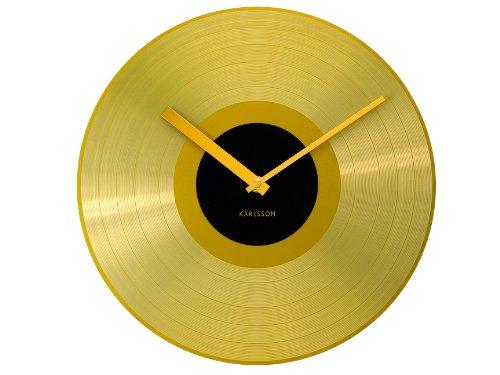 Karlsson KA4539 Wanduhr Mega Disc Goldenen Record