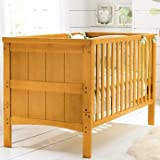 Dynamic Hampshire Cotbed in Antique Finish - Cleva Edition ChildSAFE Door Stopz Bundle