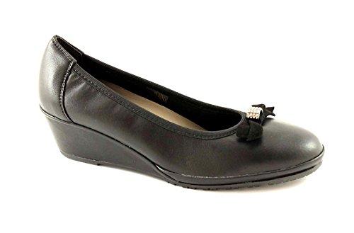 GRUNLAND RINA SC1822 nero scarpe donna ballerina zeppetta 40