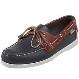 Sebago Men\'s Spinnaker Shoe,Navy/Red/White,8 W US