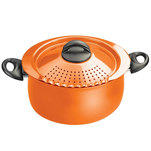 Bialetti 7258 Trends Collection 5 Quart Pasta Pot, Orange (Red Bialetti compare prices)
