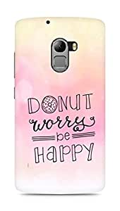 AMEZ donut dont worry be happy Back Cover For Lenovo K4 Note