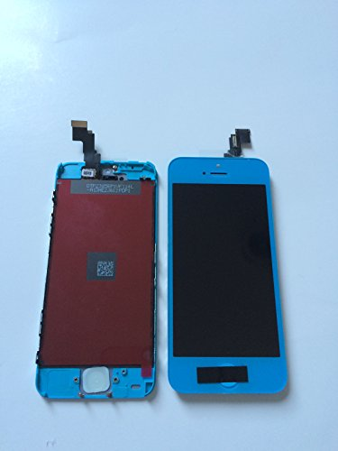 Lcd Touch Screen Digitizer Replacement Assembly For Iphone 5C W Home Button (Blue)