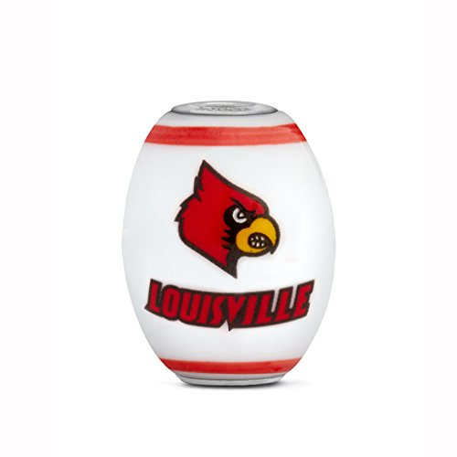 Louisville Cardinals Large Glass Bead Fits Most European Style Bracelets