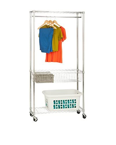 Honey-Can-Do Chrome Rolling Laundry Station