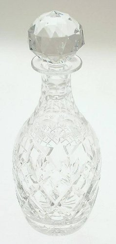 Etched MercedesBenz cut crystal decanter and stopper CLTMS_4