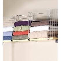 Chrome-Plated Steel set of 4 Closet Shelf Dividers