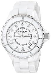 Akribos XXIV Mens AKR484WT Ceramic Bracelet Midsized Watch