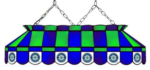 MLB Seattle Mariners 40-Inch Rectangular Stained Glass Billiard Table Light at Amazon.com