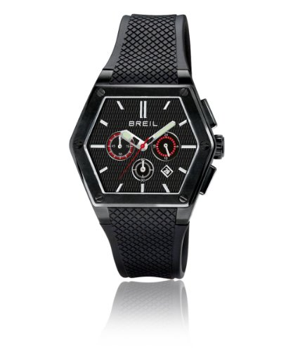 Breil Men's Chronograph Watch TW0652 With Black Dial And Polyurethane Strap